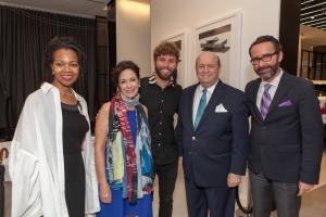 Embajadora Gina Abercrombie, RNR, Timo Weiland, Christopher Hyland, Embajador Diego Gomez-Pickerin*